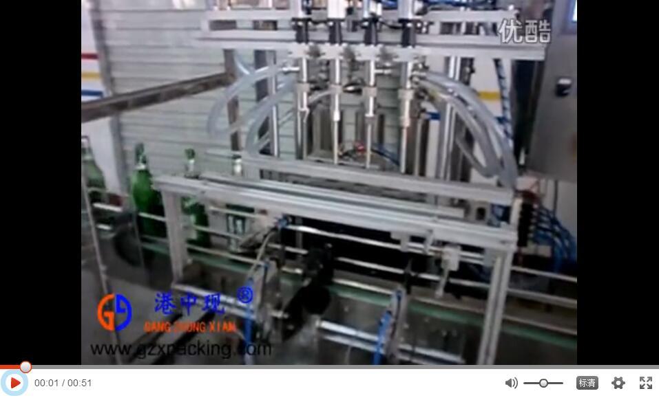 深圳市港中现4头直线灌装机 全自动活塞式液体灌装机